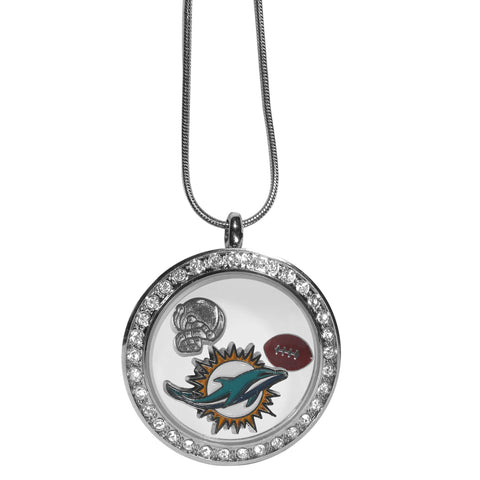 Miami Dolphins Locket Necklace