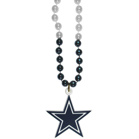 Dallas Cowboys Mardi Gras Bead Necklace