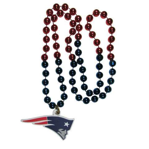 New England Patriots Mardi Gras Bead Necklace