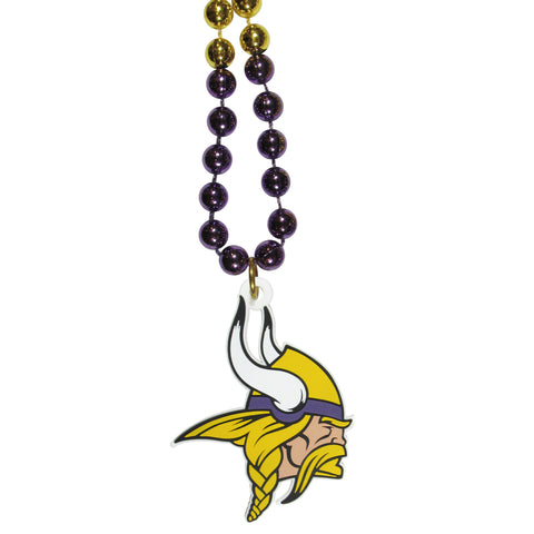 Minnesota Vikings Mardi Gras Bead Necklace