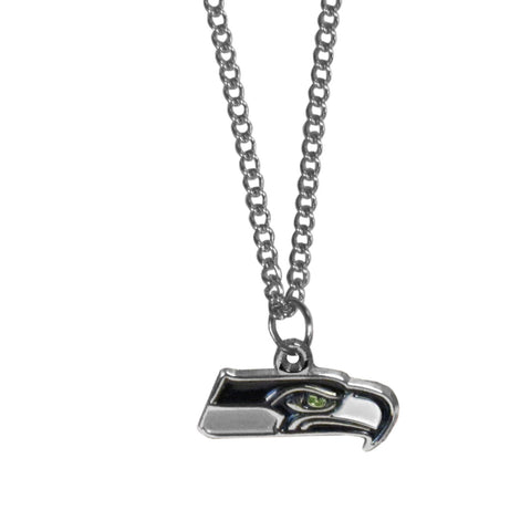 Seattle Seahawks Chain Necklace with Small Charm