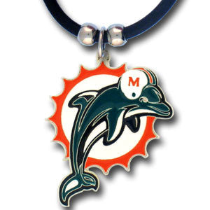 Miami Dolphins Rubber Cord Necklace