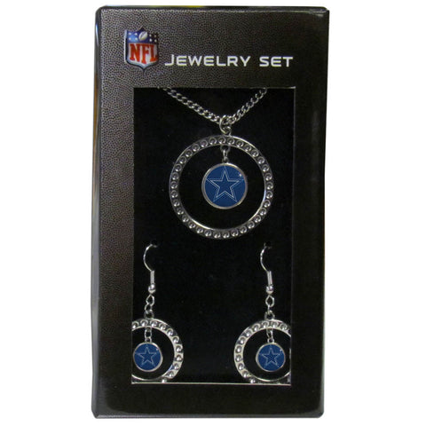 Dallas Cowboys Rhinestone Hoop Jewelry Set