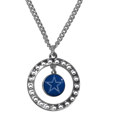 Dallas Cowboys Rhinestone Hoop Necklace