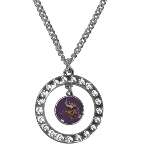Minnesota Vikings Rhinestone Hoop Necklace