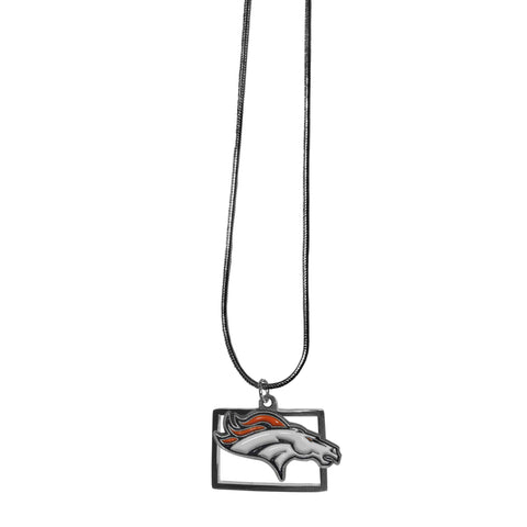 Denver Broncos State Charm Necklace