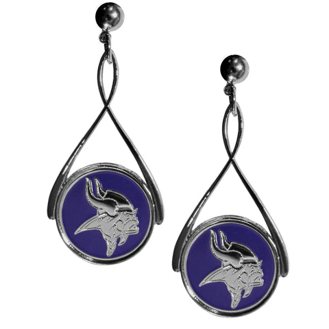 Minnesota Vikings Tear Drop Earrings