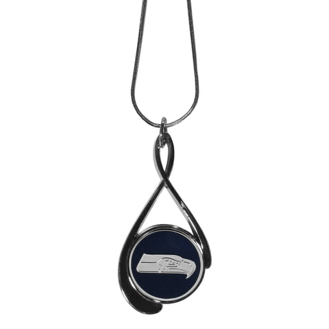 Seattle Seahawks Tear Drop Necklace