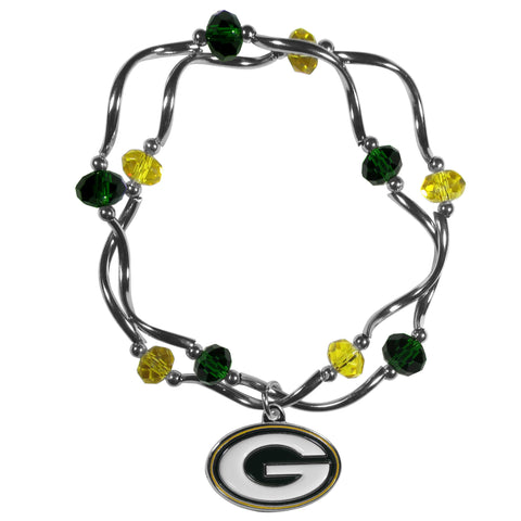Green Bay Packers Crystal Bead Bracelet