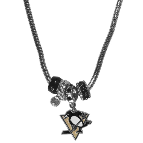 Pittsburgh Penguins® Euro Bead Necklace