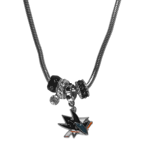 San Jose Sharks® Euro Bead Necklace