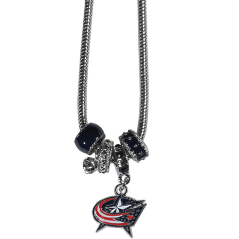 Columbus Blue Jackets® Euro Bead Necklace