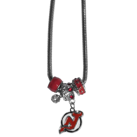 New Jersey Devils® Euro Bead Necklace