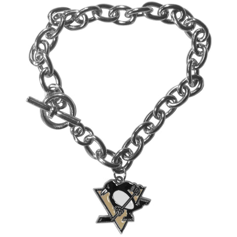 Pittsburgh Penguins® Charm Chain Bracelet