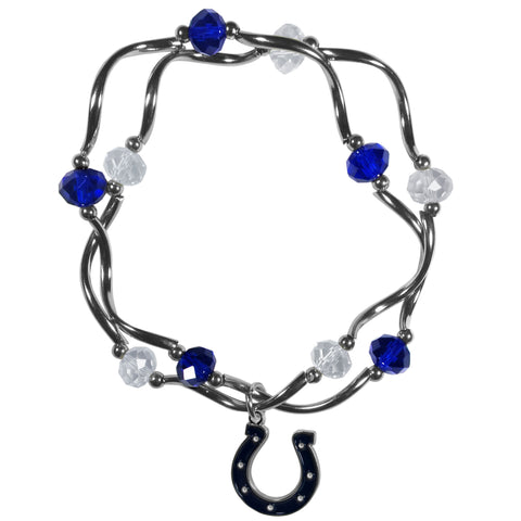 Indianapolis Colts Crystal Bead Bracelet