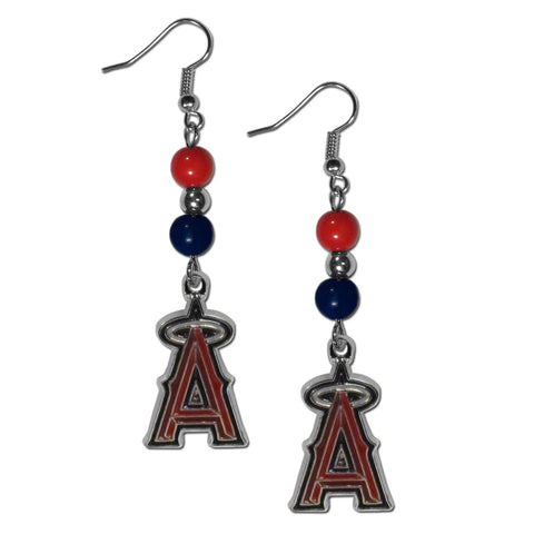 Los Angeles Angels of Anaheim Fan Bead Dangle Earrings