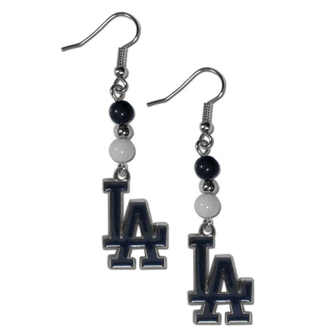Los Angeles Dodgers Fan Bead Dangle Earrings