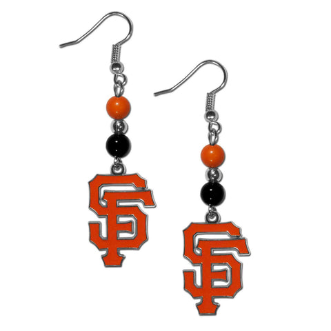 San Francisco Giants Fan Bead Dangle Earrings
