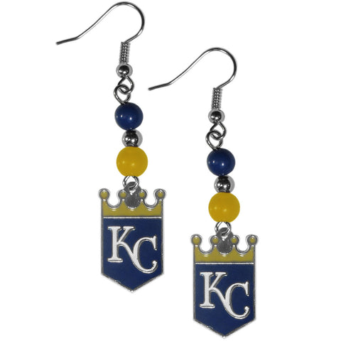 Kansas City Royals Fan Bead Dangle Earrings