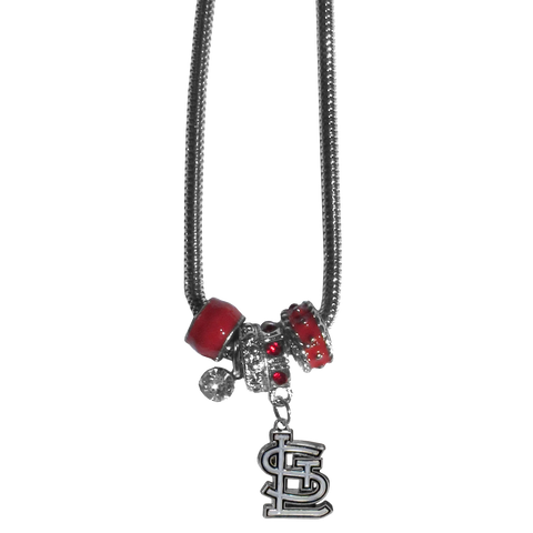 St. Louis Cardinals Euro Bead Necklace