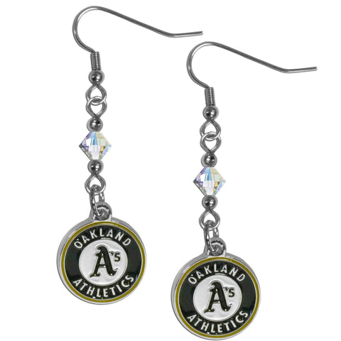 Oakland Athletics Crystal Dangle Earrings