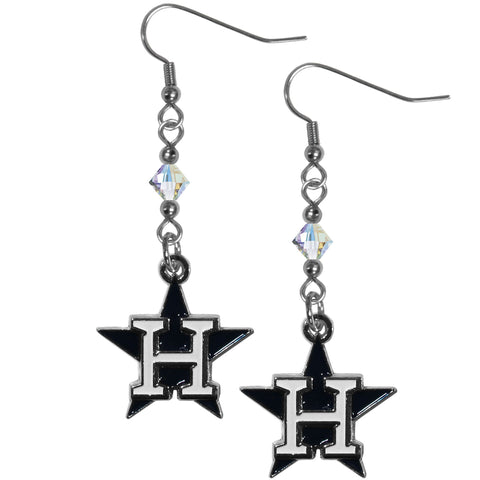Houston Astros Crystal Dangle Earrings