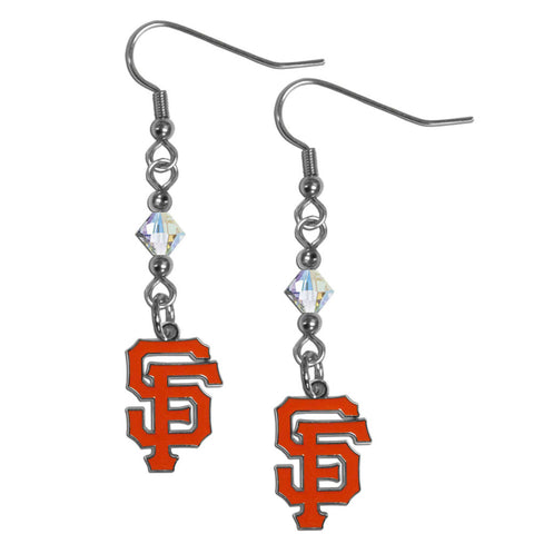 San Francisco Giants Crystal Dangle Earrings