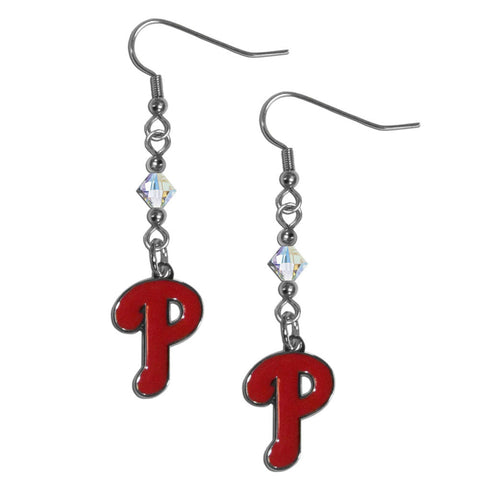 Philadelphia Phillies Crystal Dangle Earrings