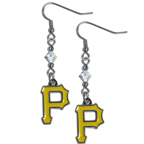 Pittsburgh Pirates Crystal Dangle Earrings