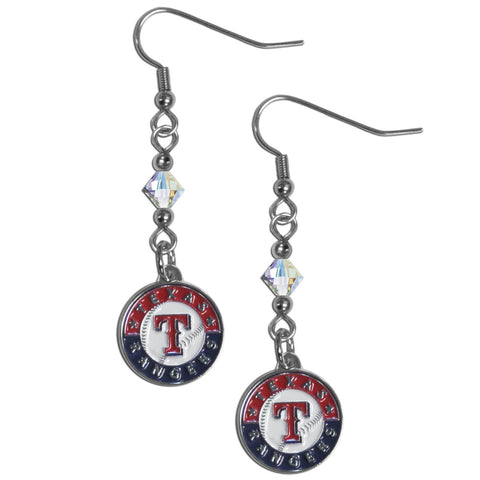 Texas Rangers Crystal Dangle Earrings
