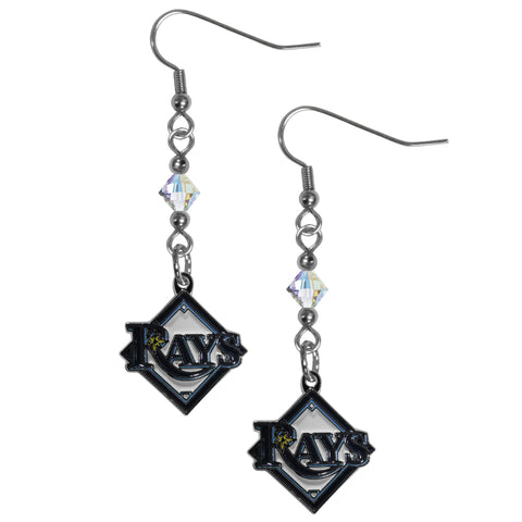 Tampa Bay Rays Crystal Dangle Earrings