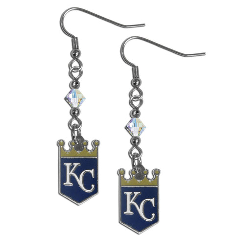 Kansas City Royals Crystal Dangle Earrings