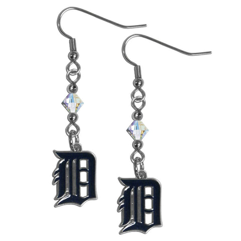 Detroit Tigers Crystal Dangle Earrings