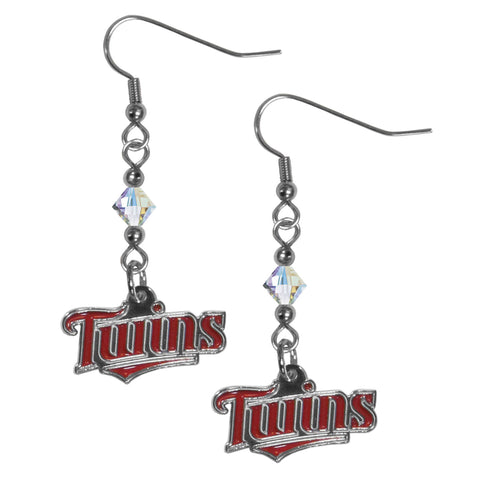 Minnesota Twins Crystal Dangle Earrings