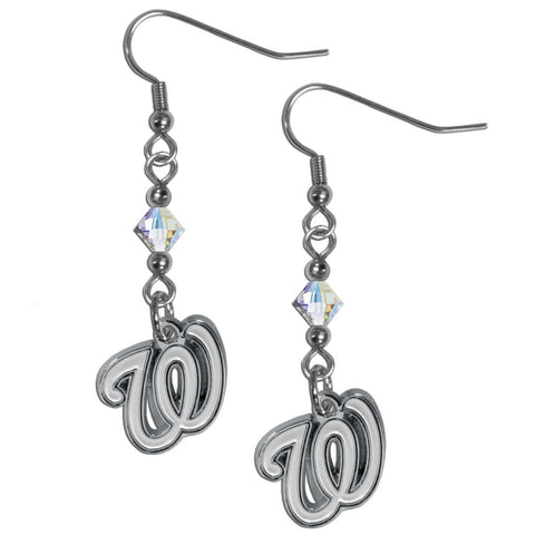 Washington Nationals Crystal Dangle Earrings