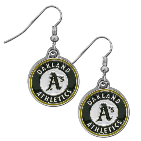 Oakland Athletics Chrome Dangle Earrings