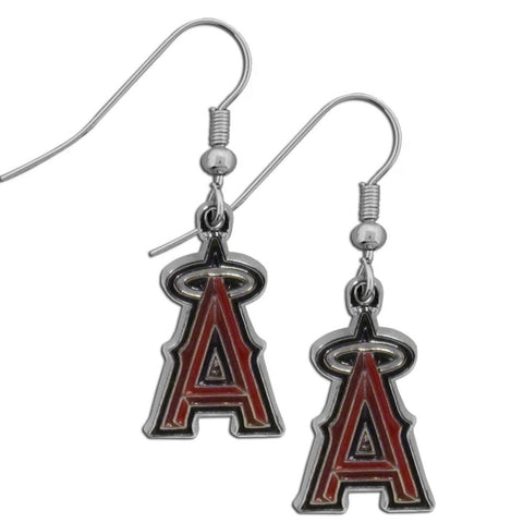 Los Angeles Angels of Anaheim Chrome Dangle Earrings