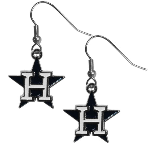 Houston Astros Chrome Dangle Earrings