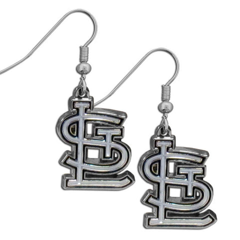 St. Louis Cardinals Chrome Dangle Earrings