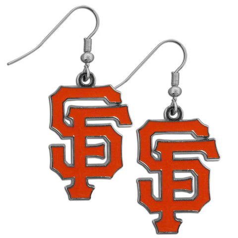 San Francisco Giants Chrome Dangle Earrings
