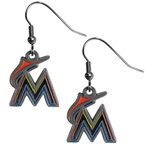 Miami Marlins Dangle Earrings