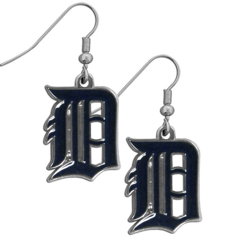 Detroit Tigers Chrome Dangle Earrings