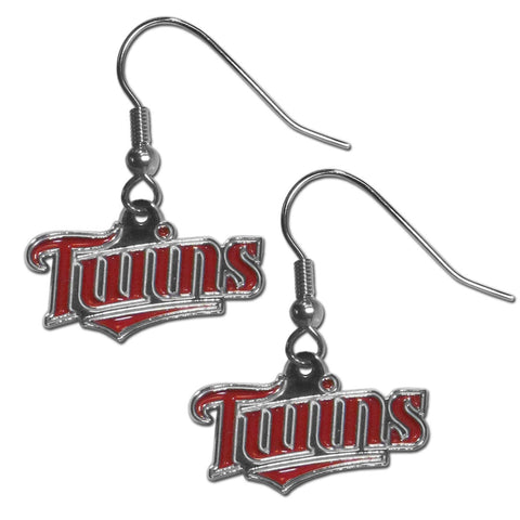Minnesota Twins Chrome Dangle Earrings