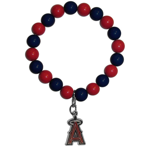 Los Angeles Angels of Anaheim Fan Bead Bracelet