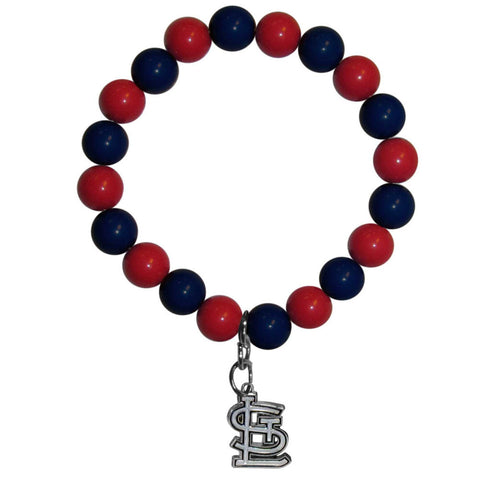 St. Louis Cardinals Fan Bead Bracelet