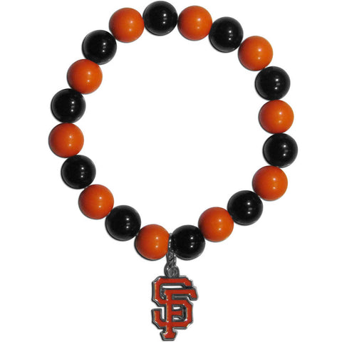 San Francisco Giants Fan Bead Bracelet