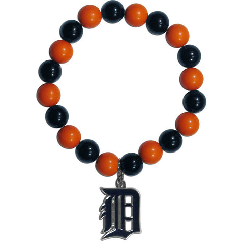 Detroit Tigers Fan Bead Bracelet