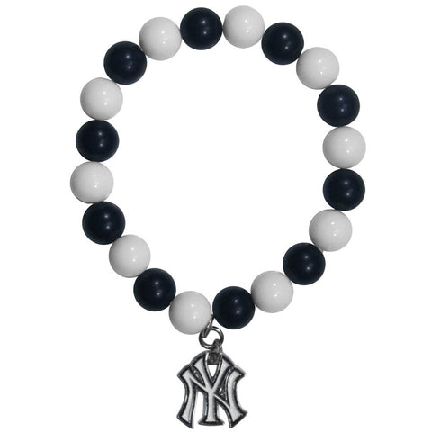 New York Yankees Fan Bead Bracelet