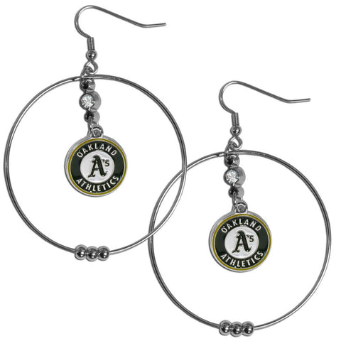 Oakland Athletics 2 Inch Hoop Earrings