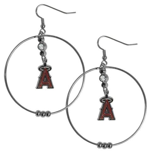 Los Angeles Angels of Anaheim 2 Inch Hoop Earrings